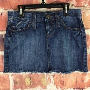 Gap Denim Skirt with Frayed Hem Size 2